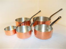 Heavy copper cookware set - professional quality
