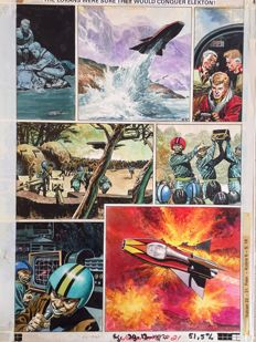 Lawrence, Don - Original page in colour - Trigan Empire - (1969)