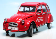 "Solido - Scale 1/18 - Citroen 2CV 6 ""Coca-Cola"" Tin Snail 1978"