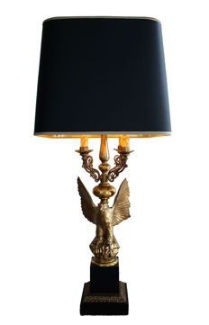 Maison Charles attr. - Impressive guilded eagle table lamp