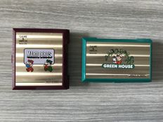 Lot of 2 Game & Watch : Green House and Mario Bros