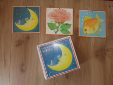 Moon - Rose - Fish, 34 wall posters / school posters Learn to read