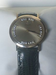 Omega men's watch 14 kt full gold set with 24 diamonds - 1975 - world wide unique piece -