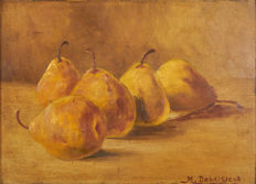 M. Debaisieux (19th and 20th c.) - Nature morte aux poires