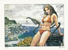 "Manara, Milo - 2x lithographs ""Calda Estate"" and ""Dal Cielo"""
