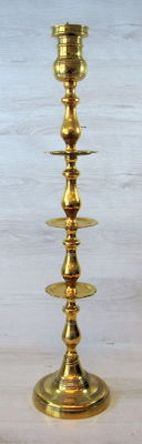 Brass church candlestick 80 cm - Second half of the 20th century - Germany