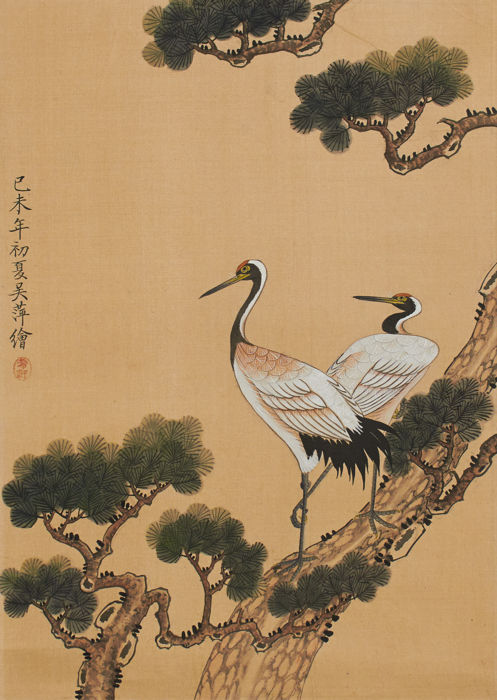Pair of Japanese gouaches (20th c.)