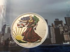 USA - 1 Dollar 2017 'American Eagle' coloured edition - 1 oz silver