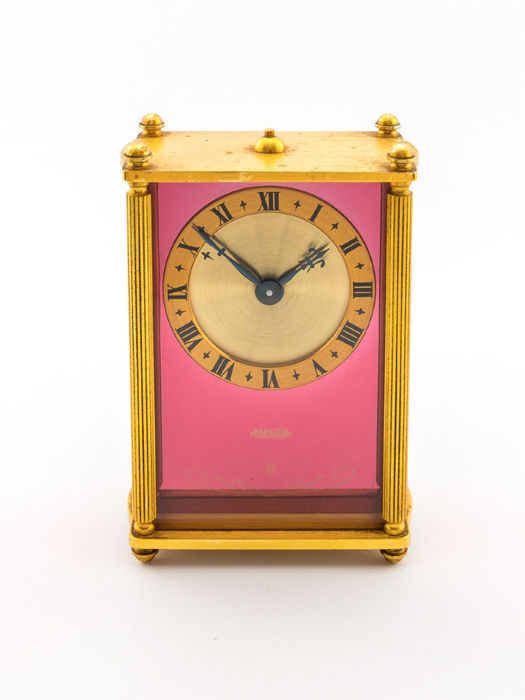 Jaeger table clock with 8-day movement and musical alarm - 1960s