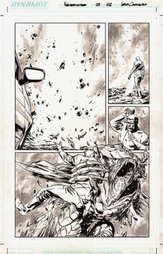 Original Art Page By Leno Carvalho - Dynamite Entertainment - Dean Koontz : Nevermore #3 - Page 12 - (2011)