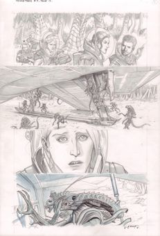 Original Comic Art By Juan Ferreyra - Dark Horse Comics - Prometheus : Fire and Stone #3 - Page 12 - Signed - (2014)