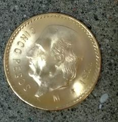 Mexico – 5 Pesos – 1955 – Gold