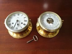 Schatz ship's clock & barometer/thermometer