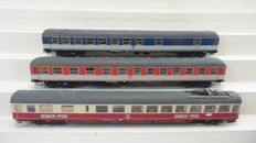 "ADE H0 - 3-piece express-train set with WRbumz 139 Quick Pick"", BDüm 273 and BDüm 273 with luggage compartment of the DB"