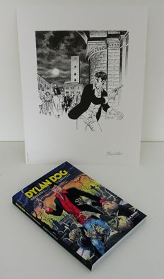 "Brindisi e Civitelli - Dylan Dog, Catalogue of the 2014 Exhibition + 1x lithograph ""Dylan Dog Alba"""