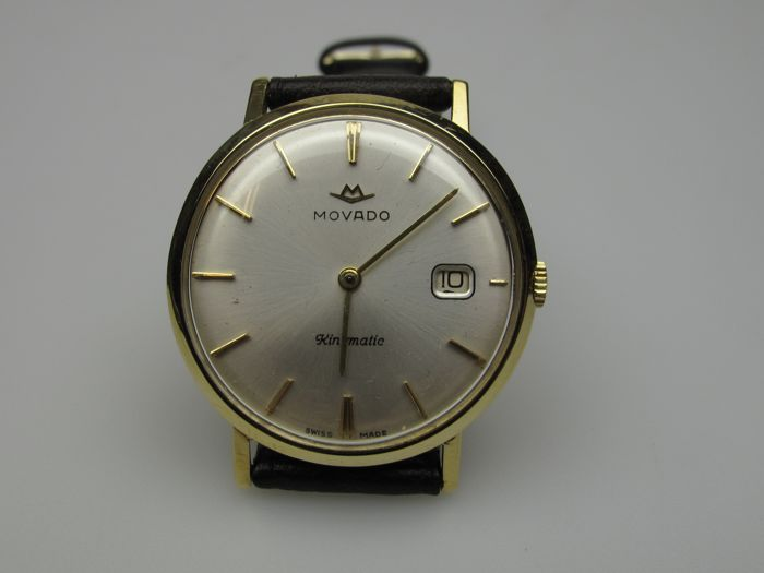 Movado wristwatch, 18 kt gold – men – analogue – 1950s