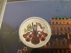 Austria - 1.50 Euro 2017 'Vienna Philharmonic' coloured edition - 1 oz silver