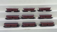 Roco N - 24040 - Nine 4-axle self-unloaders type faals of the DB
