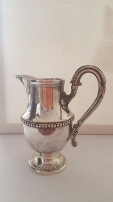 Antique silver decanter, 12 lot marked