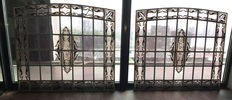 Everardus Warffemius, two identical stained glass windows,