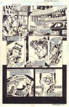 Original Art Page By Mike McKone - Marvel Comics - Strange Days : Movie Adaptation #1 - Page 1 - Signed - (1995)