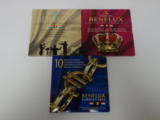 Benelux - Year packs 2010, 2011 and 2012 (3 different ones), Belgium, Netherlands and Luxembourg