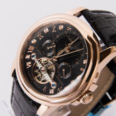 CALVANEO 1583 Evidence Diamond Rosegold Dual Time – Men's automatic wristwatch.