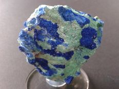 A fantastic sample of crystallisation of Azurite with Malachite - 7 x 5 x 1,5 cm - 90 gm