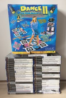 39x Playstation 2 games and Dance Floor mat boxed.