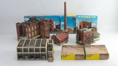 "Kibri Scenery H0 - 9792/9784/ 9786/9788 - Complete Factory terrain with various buildings ""Farben AG"" and Verhoeven NV."