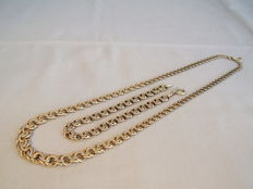 Jewellery set consisting of necklace and bracelet in Bismarck pattern