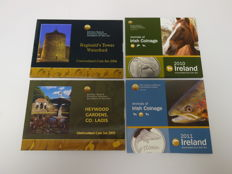 Ireland – Year packs 2004, 2005, 2010 and 2011 (4 different ones)