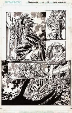 Original Art Page By Leno Carvalho - Dynamite Entertainment - Dean Koontz : Nevermore #3 - Page 17 - (2011)