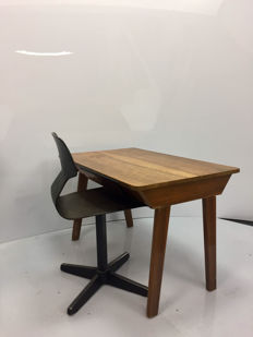 A Galvanitas table and chair for children