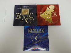 Benelux - Year packs 2003, 2004 and 2007 (3 different ones), Belgium, Netherlands and Luxembourg