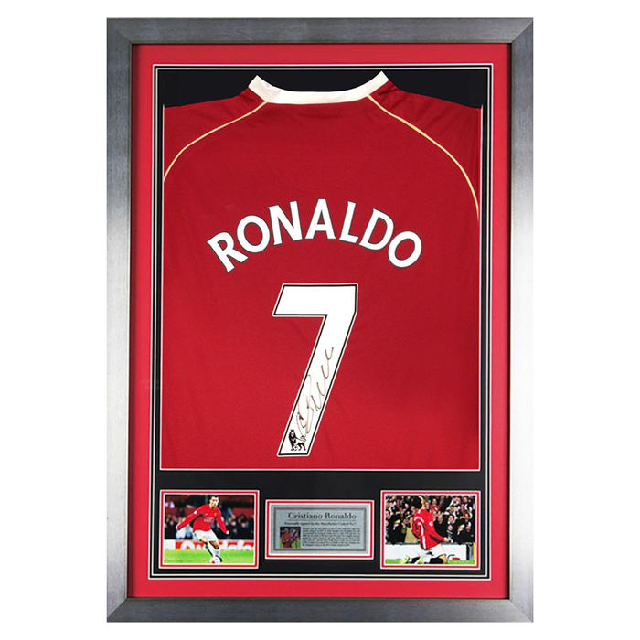 Signed Cristiano Ronaldo Framed Manchester United Number 7 Shirt