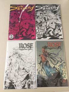 Collection Of Variant Image Comics - From The Limited Edition Image 25th Anniversary Blind Box - Includes Rose #1 - Sun Bakery #1 - (2017)