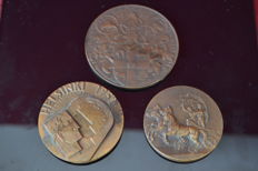 London 1948 Summer Olympics Bronze Participation Medal / Helsinki 1952 Summer Olympics Bronze Participation Medal / Melbourne 1956 Summer Olympics Bronze Participation Medal