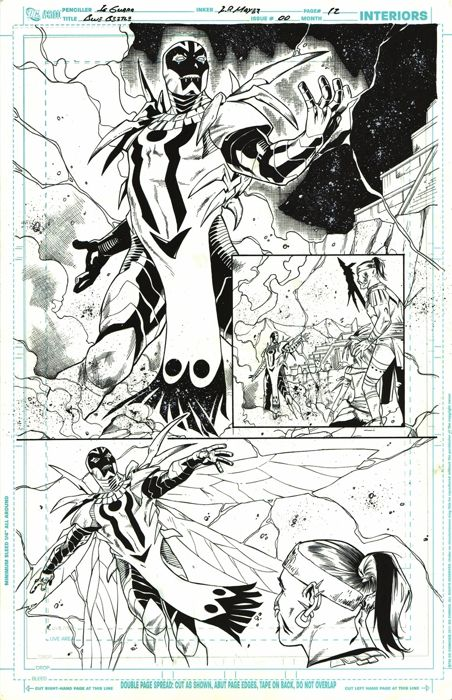 Original Art Page By IG Guara Barros - DC Comics - Blue Beetle #0 - Page 12 - Half Splash - (2012)