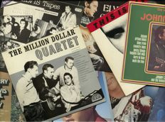 12 albums by The Million Dollar Quartet incl. Elvis Presley (7) + Johnny Cash (2) + Carl Perkins + Jerry Lee Lewis and alltogether as Million Dollar Quartet