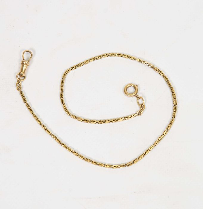 14 karat gold chain for a pocket watch with an attractive design – 13.24 grams