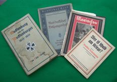Lot with 4 books on German war history - 1913/1930