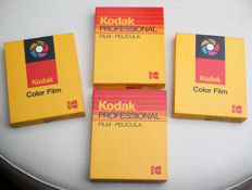 40 filmpacks Professional  kodak  Véricolor III   type S  4 x 5 inches  1986 & 1988