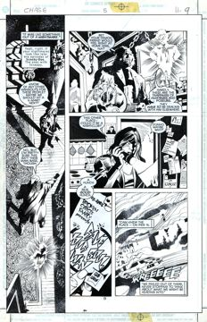 Original Art Page By Bob Hall - DC Comics - Chase #5 - Page 9 - (1998)