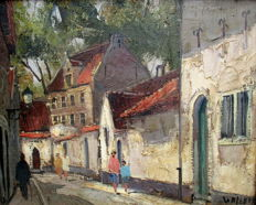 Willem (20th century) - Two city scapes (Belgium)