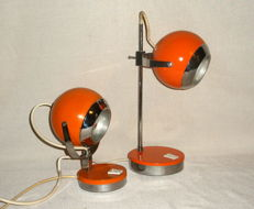 Unknown designer – Pair of 'Lui e Lei' ['His and Her'] table lamps