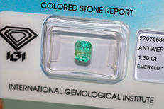 Emerald - 1.30 ct - No Reserved Price