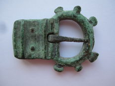 Medieval Viking bronze spiked rare buckle - 41 mm