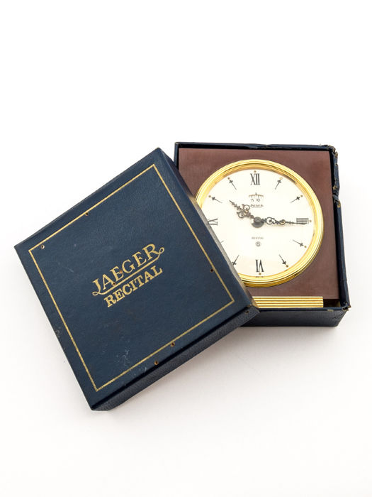 Jaeger-LeCoultre RECITAL table clock with 8-day clockwork and alarm – Box and papers – 1970s