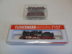 Fleischmann/Trix N - 7157/and others - Steam locomotive BR56 and motor car VT75 with annex of the DRG